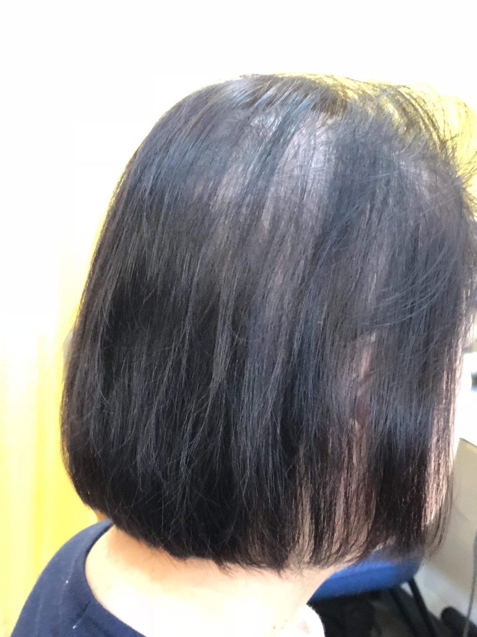 くせ毛で薄くてもノンブローOK!