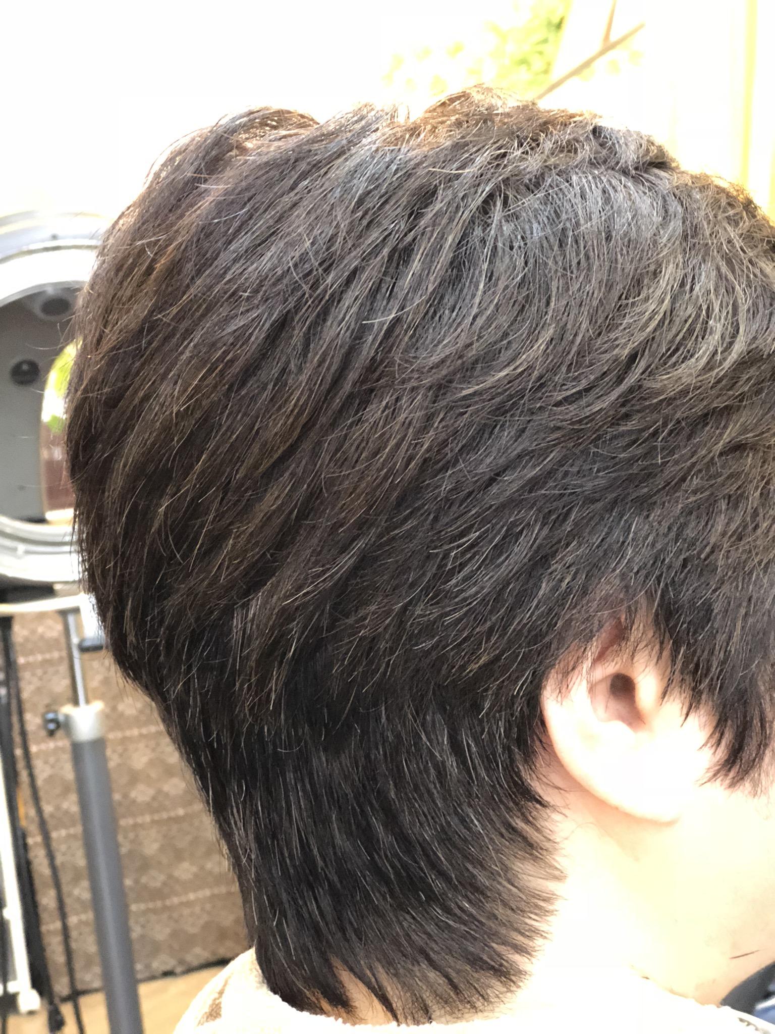 くせ毛で多毛でもノンブロスタイルになります。