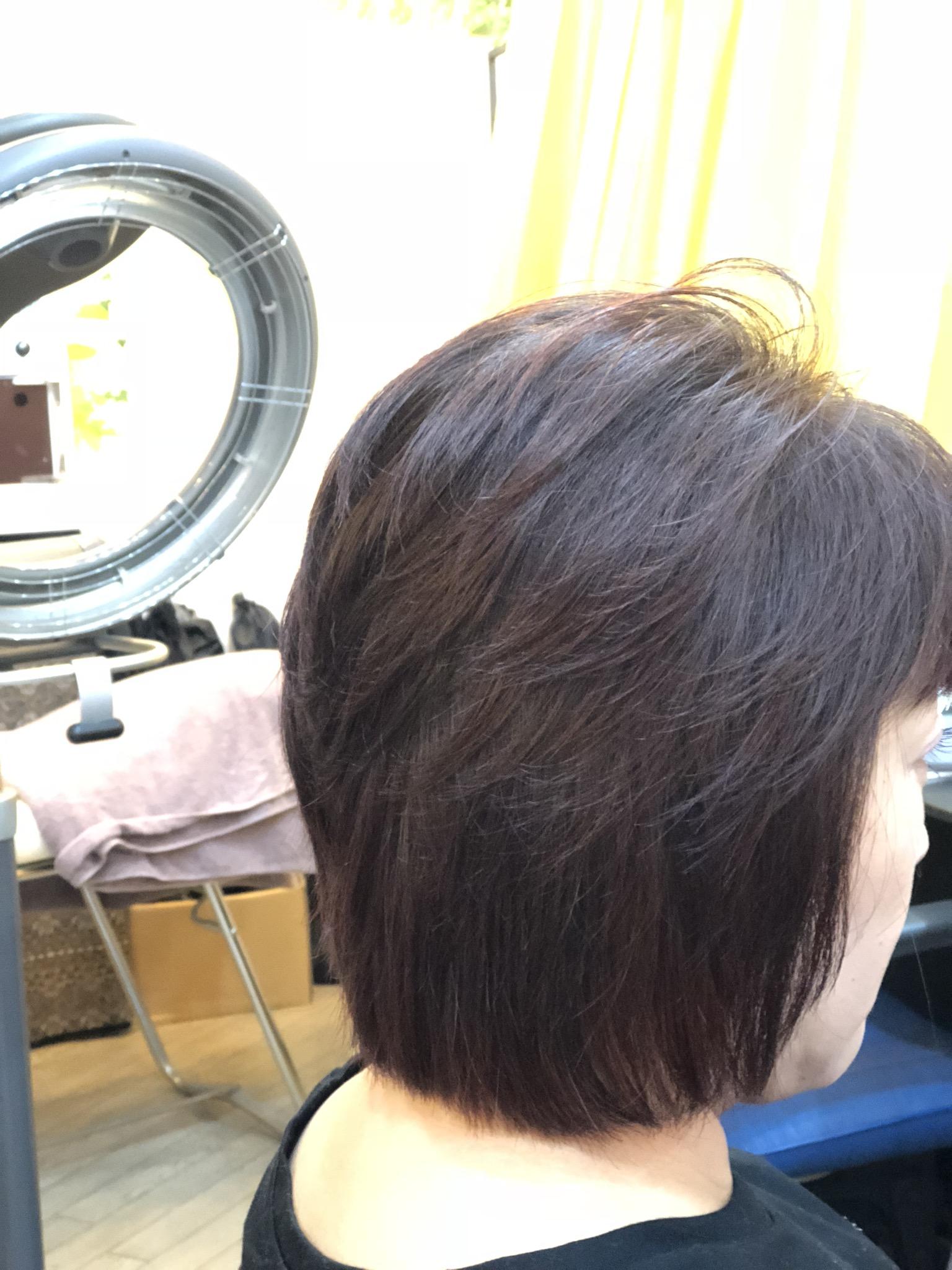 くせ毛の方にHQヘナ&キュビズムカットは最高ですね~