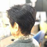 髪の毛が細くて薄くて柔らかいがキュビズムカットでふんわりノンブロー