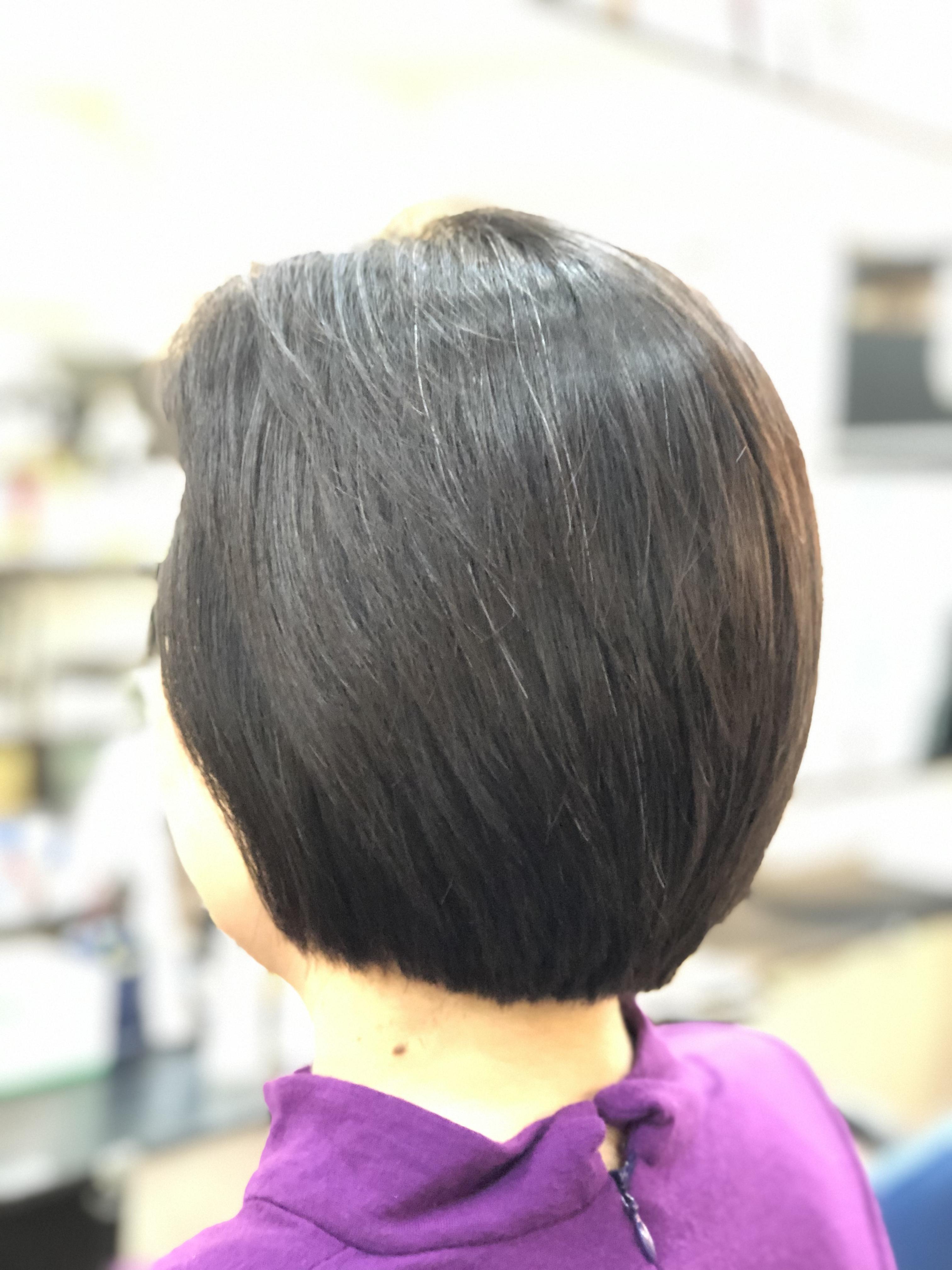 くせ毛の方より直毛の方が難しいかも・・・・