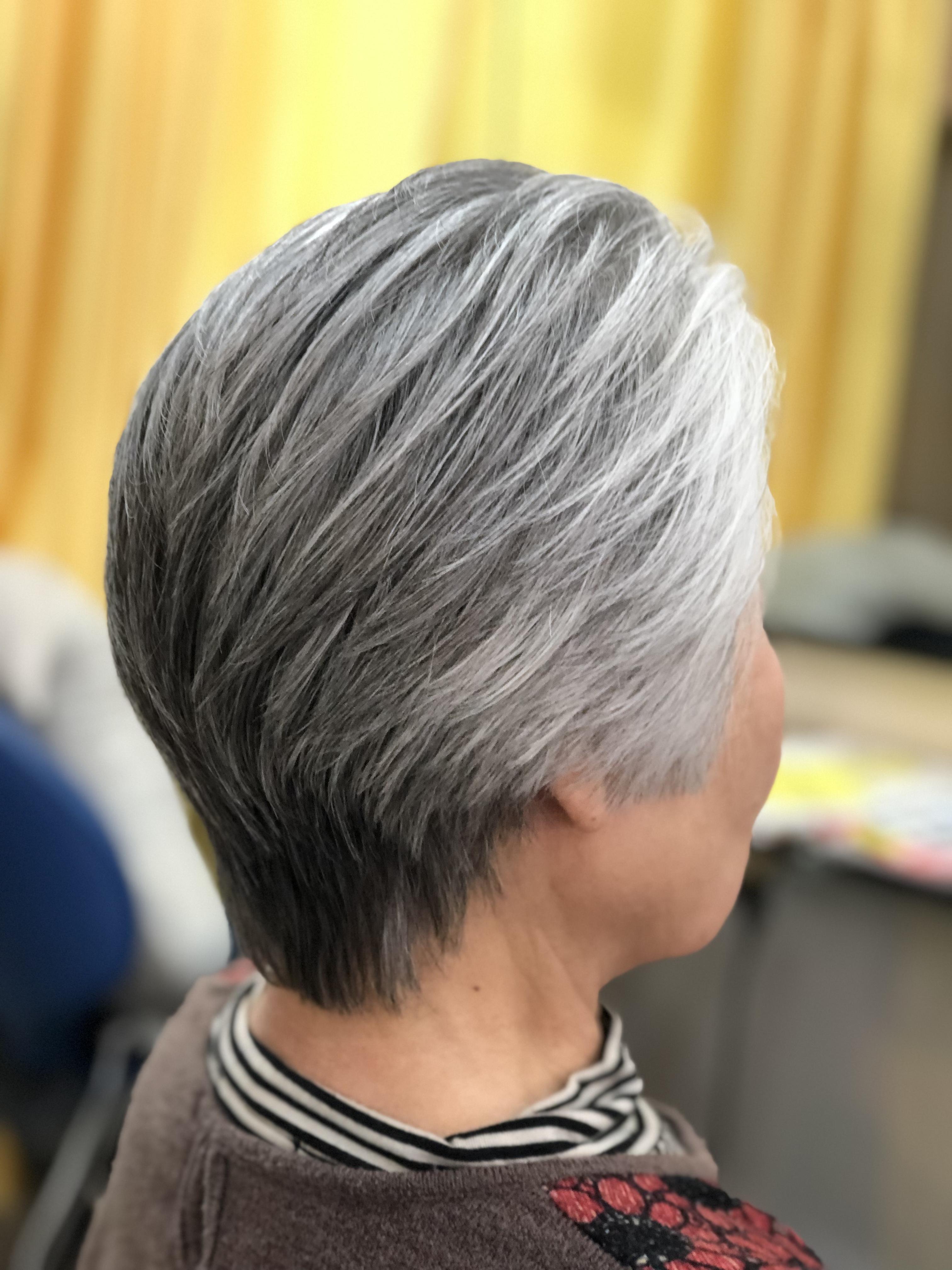 80代 大人女性のくせ毛カット