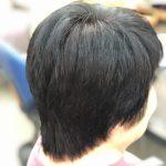 くせ毛で多毛でも重なりを取れば軽く楽になる