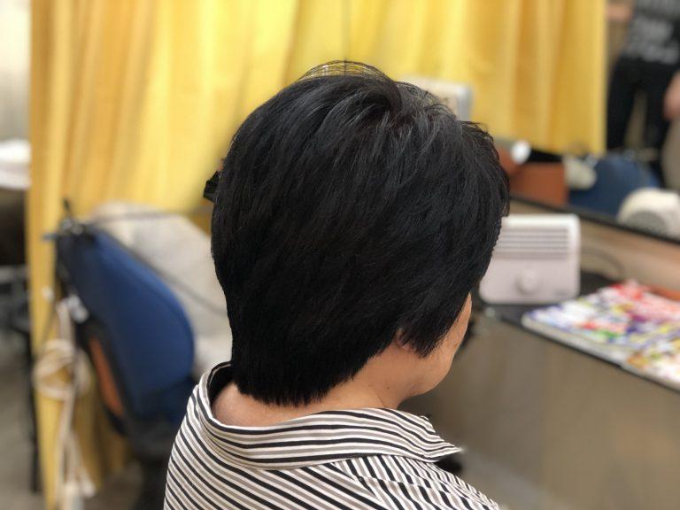 くせ毛でも簡単にスタイルになります。